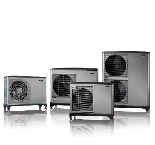 Luft til vand varmepumpe. Dette er modellen F2040, der udnytter udeluftens varmeenergi.
